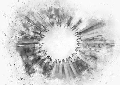 vários-lapis-formando-um-circulo-imagem-preto-e-branco