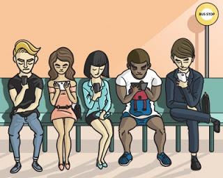 pessoas-olhando-o-celular