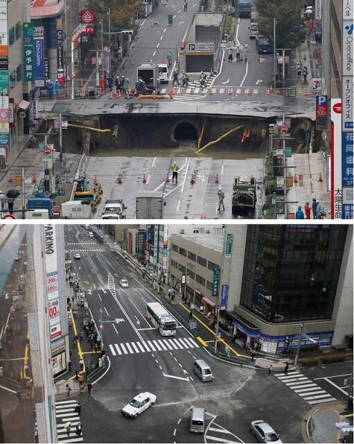 avenida-engolida-por-cratera-no-japao