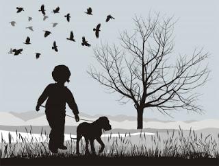 crianca-e-cachorro-passeando-ilustracao