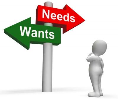 Desejos versus necessidades