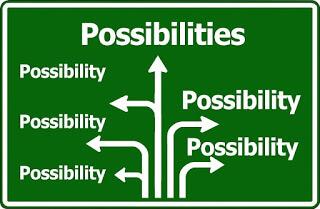 placa-de-transito-com-palavra-possibilidade-indicando-varias-direcoes